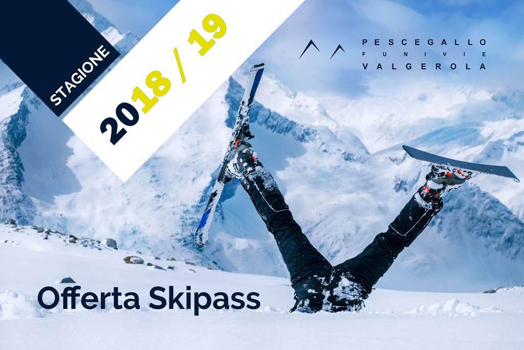 Offerta Skipass Pescegallo FUPES 2018-19